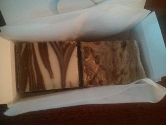 Chocolate/Vanilla swirl and English Toffee fudge